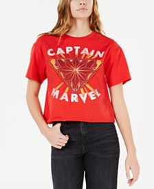 Love Tribe Juniors' Captain Marvel Graphic T-Shirt