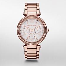 Women's Parker Rose Gold-Tone Stainless Steel Bracelet Watch 39mm
