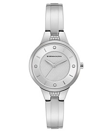 Ladies Silver Bangle Bracelet Watch with Silver Dial, 32mm