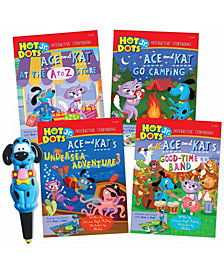 Educational Insights Hot Dots Jr Interactive Storybooks 4-Book Set With Ace Pen