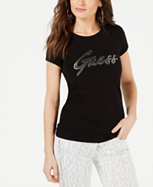 GUESS Reflective-Sequin Graphic T-Shirt