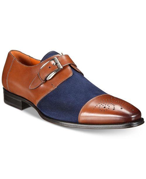 d4addc61698 Mezlan Men s Monk-Strap Medallion-Toe Suede Vamp Shoes   Reviews ...