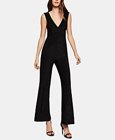 BCBGeneration Metallic Wide-Leg Jumpsuit
