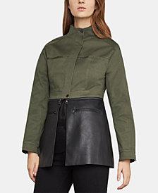 BCBGMAXAZRIA Faux-Leather-Peplum Jacket