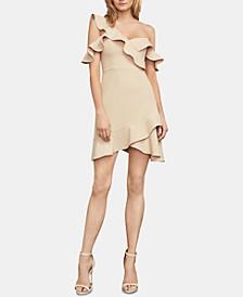 Malik Asymmetrical Off-The-Shoulder Dress