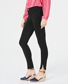 Style & Co Petite Ponté-Knit Split-Hem Pants, Created for Macy's
