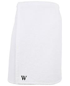 100% Turkish Cotton Terry Personalized Men's Bath Wrap - White