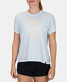 Hurley Juniors' Surf & Enjoy Graphic-Print T-Shirt