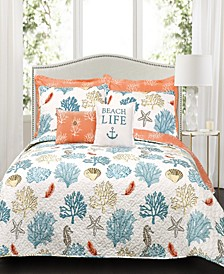 Coastal Reef 3-Pc Full/Queen Quilt Set