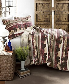 Holiday Lodge Brown 3-Pc Set King Quilt Set