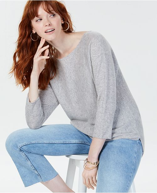 Charter Club Cashmere Dolman-Sleeve Sweater, Created for Macy's