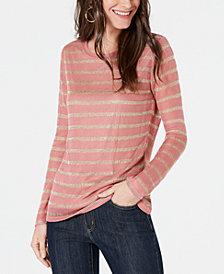 MICHAEL Michael Kors Metallic-Stripe Sweater