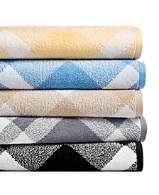 Plaid Cotton Bath Towel Collection, Created for Macy's