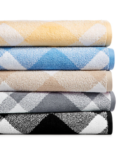 Charter Club Plaid Cotton Bath Towel Collection, Created for Macy's