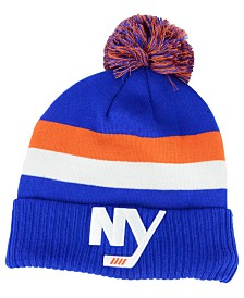 Authentic NHL Headwear New York Islanders Alternate Jersey Cuffed Pom Knit Hat