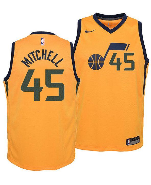 Nike Donovan Mitchell Utah Jazz Statement Swingman Jersey, Big Boys (8-20)