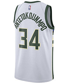 Nike Giannis Antetokounmpo Milwaukee Bucks Association Swingman Jersey, Big Boys (8-20)