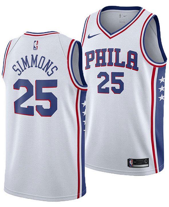 Nike Ben Simmons Philadelphia 76ers Association Swingman Jersey, Big Boys (8-20)