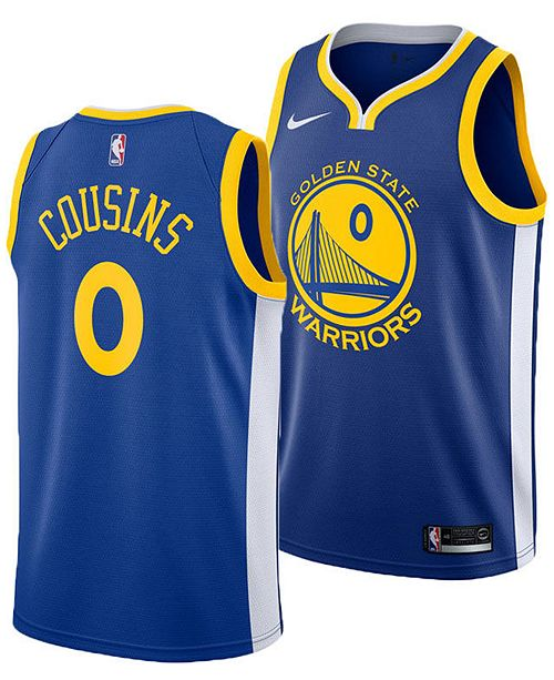 timeless design 22f76 225c8 Men's DeMarcus Cousins Golden State Warriors Icon Swingman Jersey
