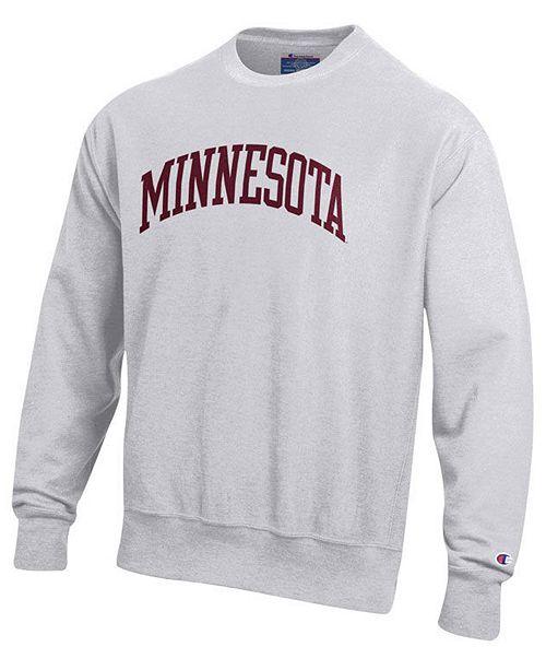 Champion Men's Minnesota Golden Gophers Reverse Weave Crew Sweatshirt