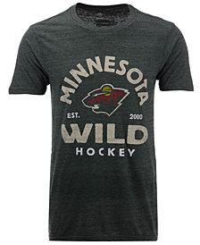Authentic NHL Apparel Men's Minnesota Wild Vintage Arch Tri-Blend T-Shirt