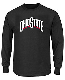 Profile Men's Big & Tall Ohio State Buckeyes Wordmark Long Sleeve T-Shirt