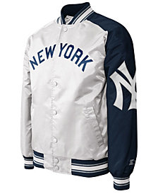G-III Sports Men's New York Yankees Dugout Starter Satin Jacket II