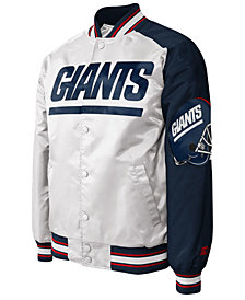 G-III Sports Men's New York Giants Starter Dugout Championship Satin Jacket