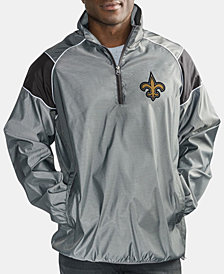 G-III Sports Men's New Orleans Saints Fade Player Lightweight Pullover Jacket