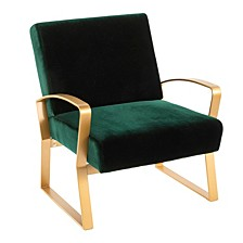 Henley Lounge Chair with Emerald Velvet