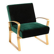 Lumisource Henley Lounge Chair with Emerald Velvet