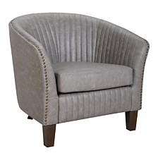 Lumisource Shelton Club Chair in Light Faux Leather