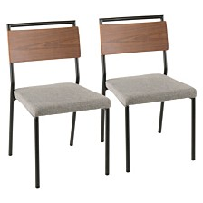 Lumisource Fiji Chair in Metal with Set of 2