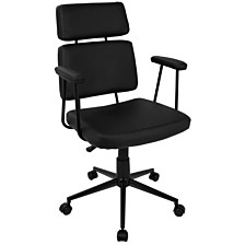 Lumisource Sigmund Adjustable Office Chair in Faux Leather