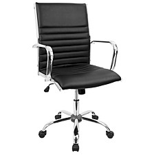 Master Adjustable Office Chair with Swivel in Faux Leather