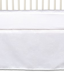 Lolli Living Cotton Crib Bed Skirt With Pompom Trim