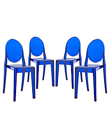 Modway Casper Dining Chairs Set of 4