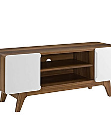 """Modway Tread 47"""" TV Stand White"""