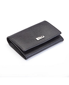 Royce RFID Blocking Business Card Case Wallet in Genuine Saffiano Leather