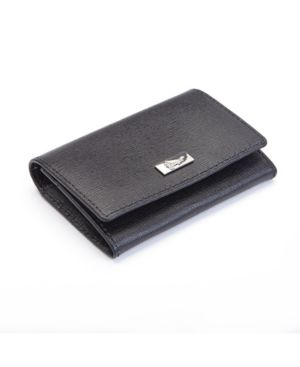 Image of Royce Rfid Blocking Business Card Case Wallet in Genuine Saffiano Leather
