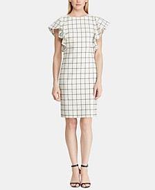 Windowpane Jacquard Dress