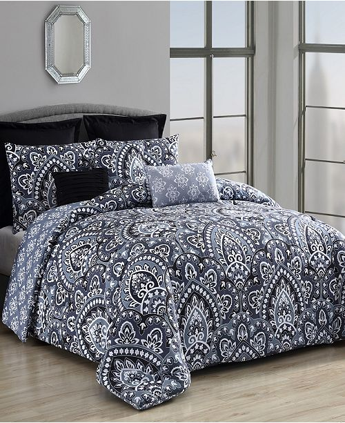 Geneva Home Fashion Palma 8-Pc Queen Comforter Set