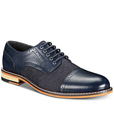 Bar III Men's Parker Cap-Toe Derby Shoes, Created for Macy's