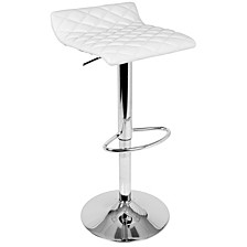 Cavale Adjustable Barstool in Faux Leather