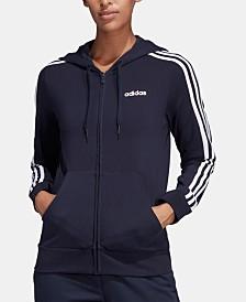 adidas Essentials 3-Stripe Zip Hoodie