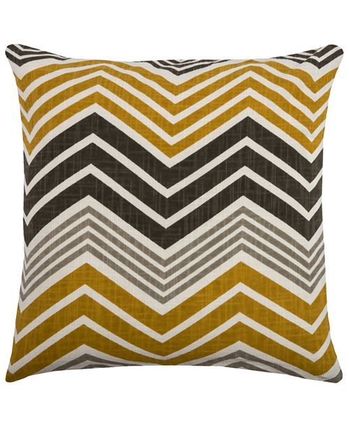 "Rizzy Home 18"" x 18"" Chevron Pillow Cover"