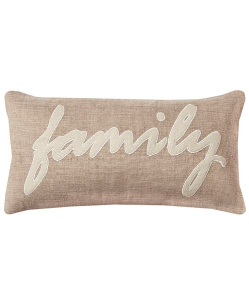 "Rizzy Home 11"" x 21"" Typography Pillow Cover"