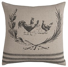 """20"""" x 20"""" Rooster Pillow Cover"""