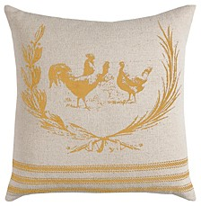"20"" x 20"" Rooster Pillow Cover"