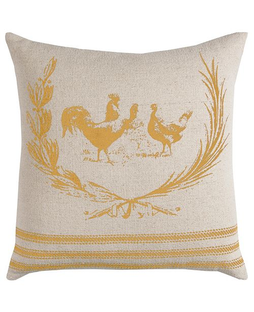 "Rizzy Home 20"" x 20"" Rooster Pillow Cover"